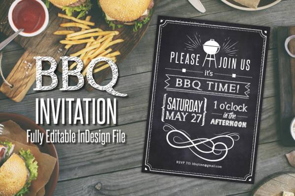 chalkboard bbq party invitation