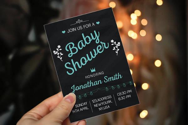 chalkboard baby shower invitation5