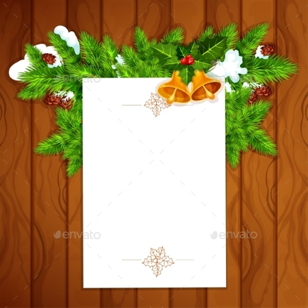 christmas card with blank paper