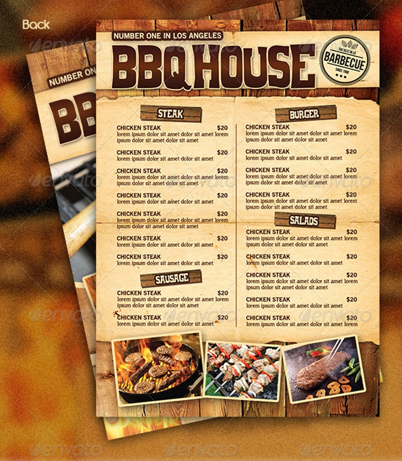 13  barbecue menu designs  u0026 examples