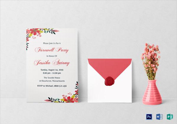 classic farewell party invitation
