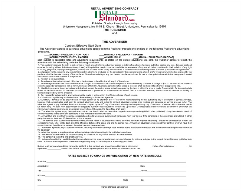 classified advertising contract1