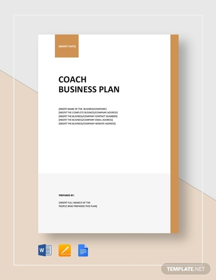 coach business plan template