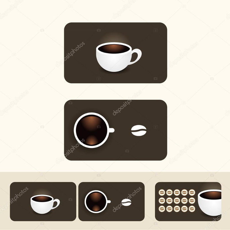 coffee coupon vectors