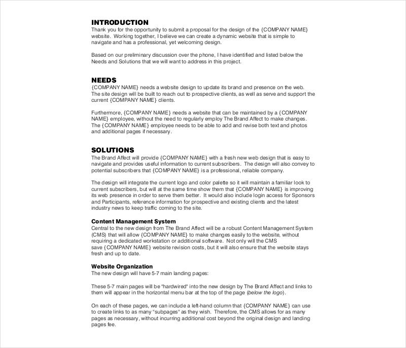 company branding proposal