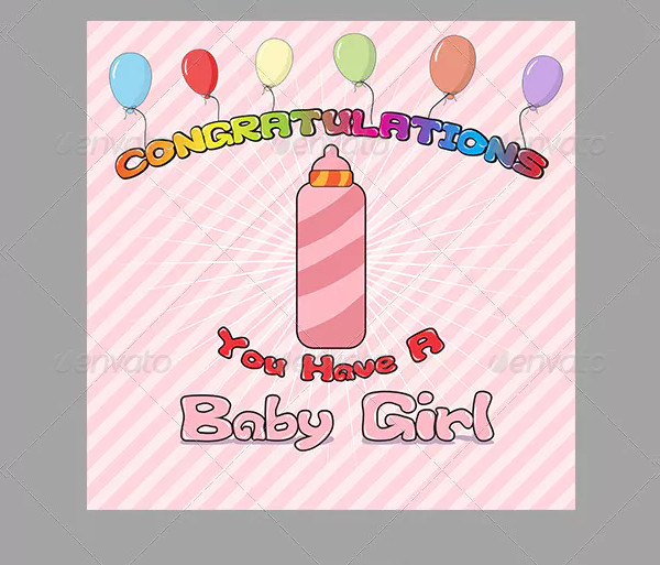 congratulation baby birth card