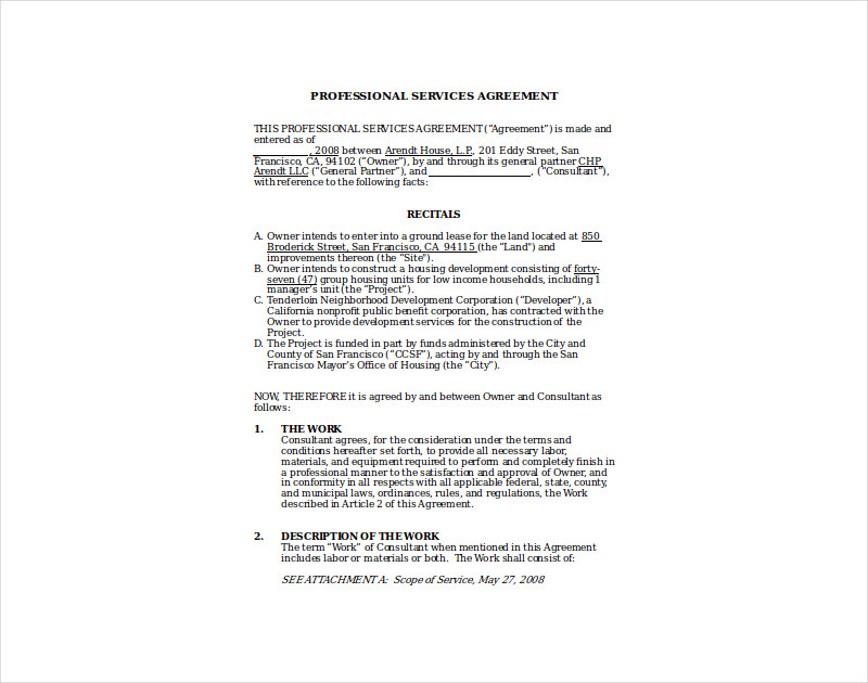 construction consultant agreement