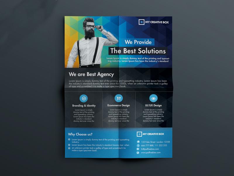 corporate agency flyer
