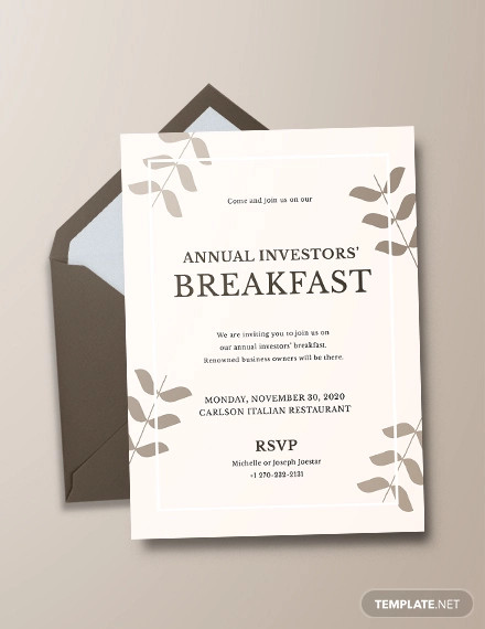 corporate breakfast invitation