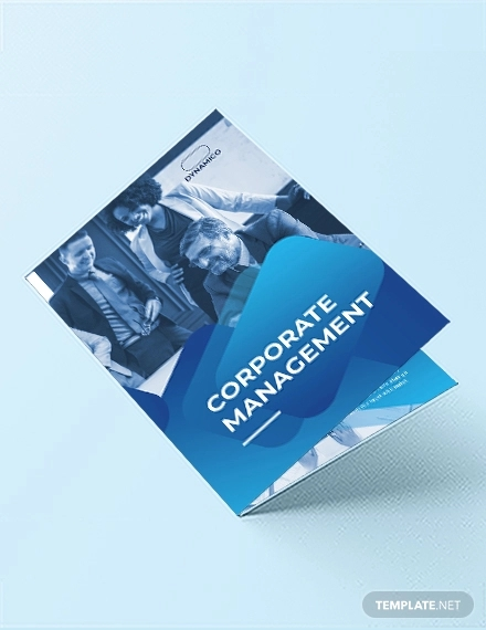corporate management bi fold brochure template