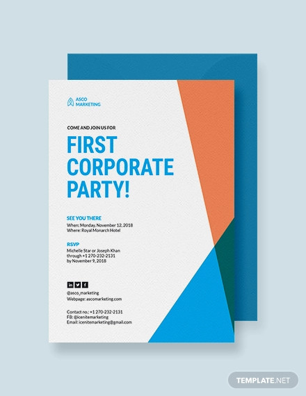 corporate party invitation