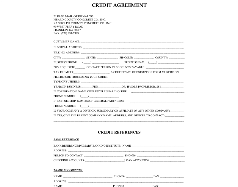 county credit agreement