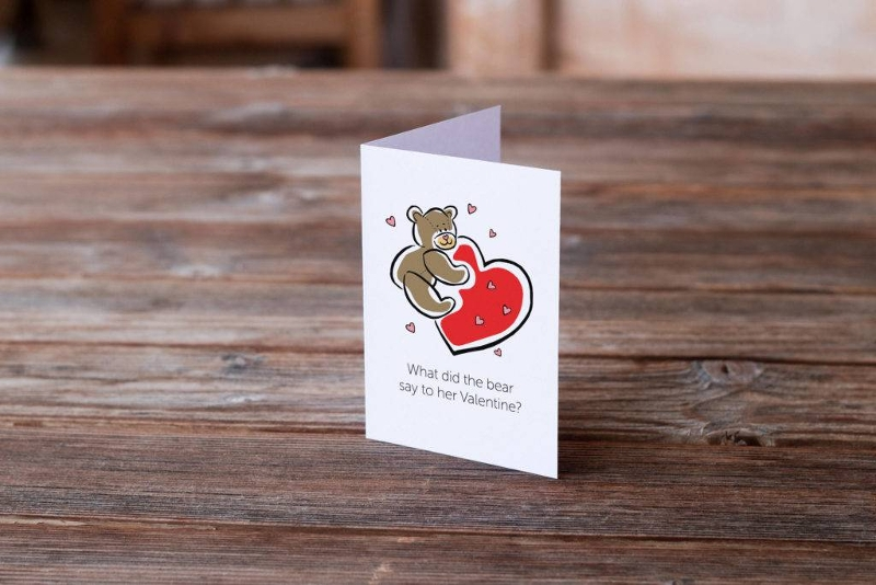 cute bear romantic greeting card
