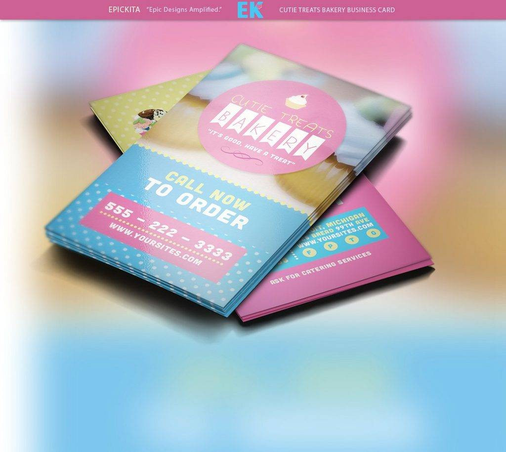 cutie treats bakery business card