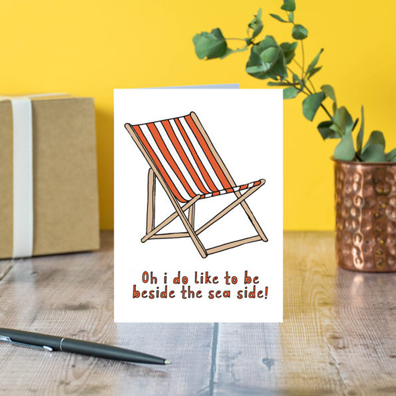 deckchair retirement greeting card