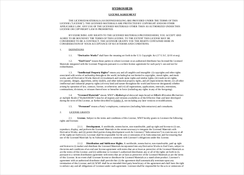 distribution license agreement5