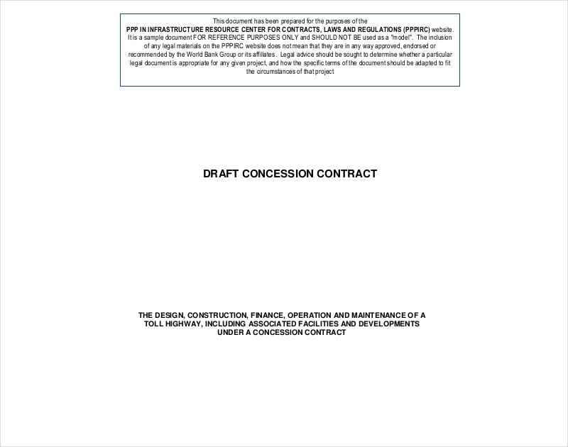 draft concession contract