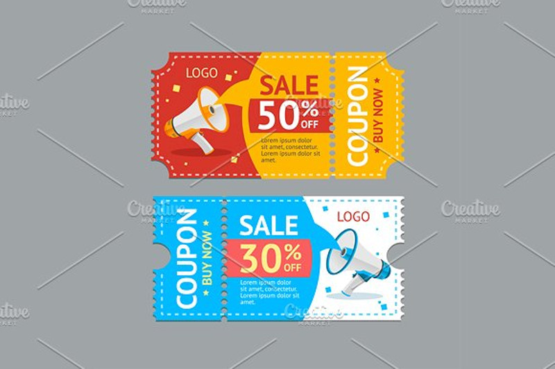 drink coupon vector