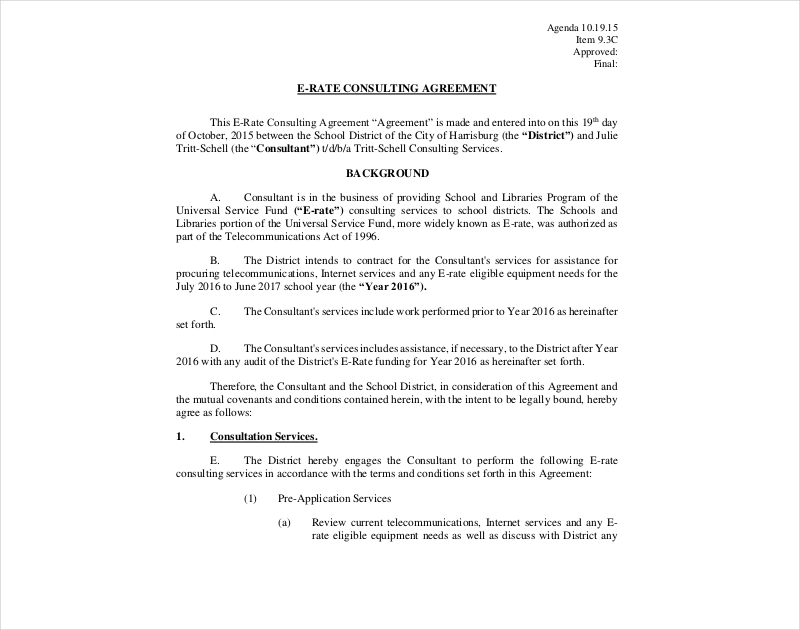 16 Consulting Agreement Examples Pdf Doc