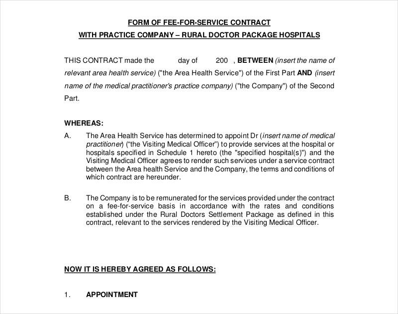 editable company service contract