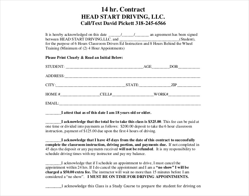 editable hr contract
