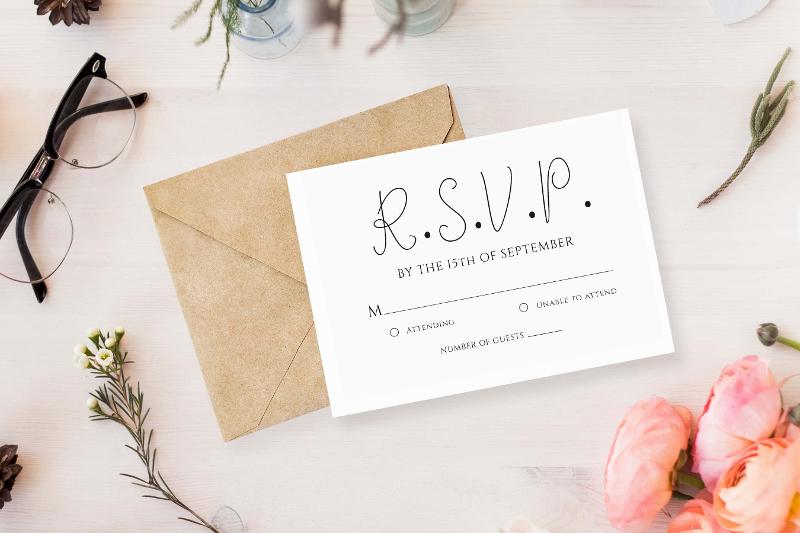 elegant wedding invitation example