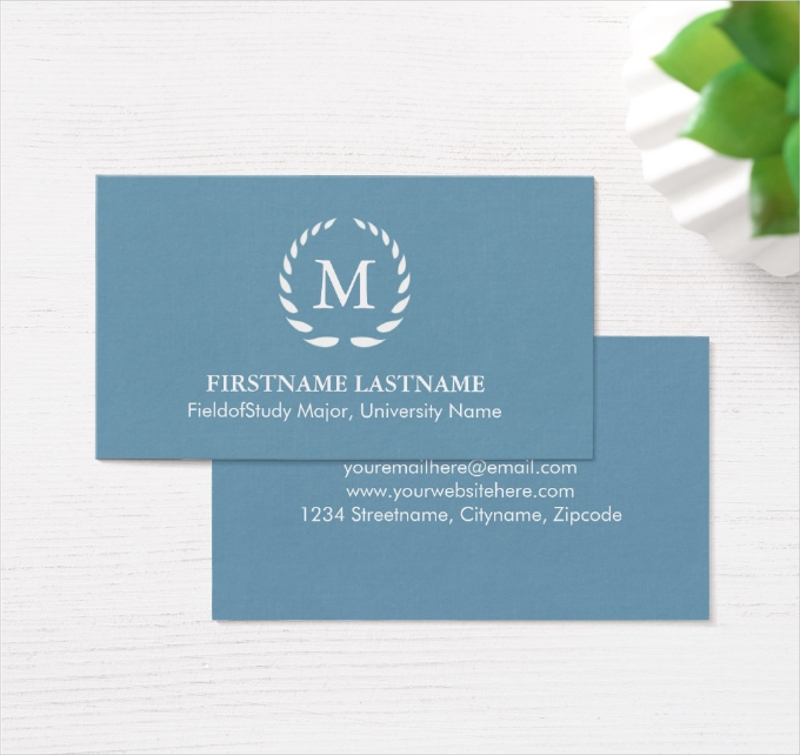 elegant and modern student business card