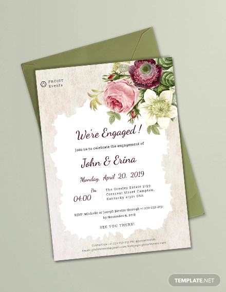 engagement invitation example