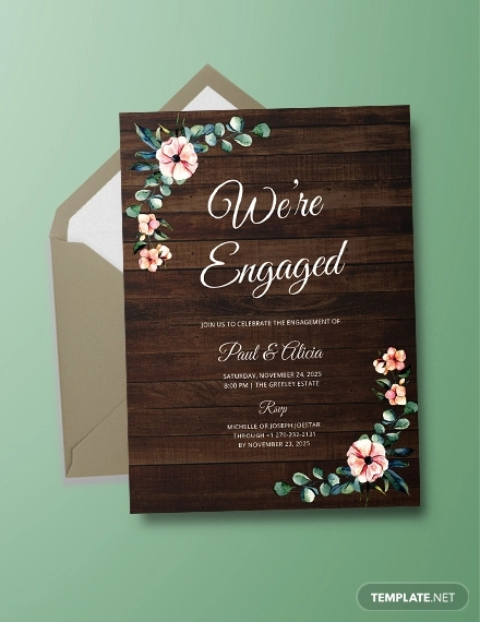 Free 21 Engagement Party Invitation Designs Examples In