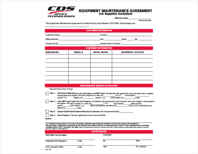 equipment maintenance agreement1