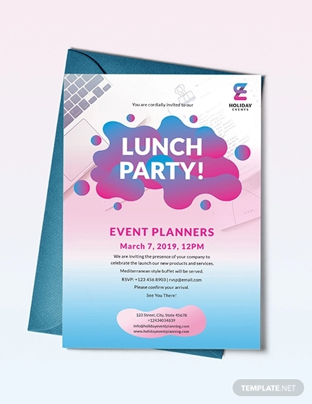 event planner invitation example