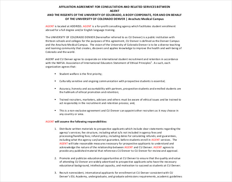 example agent contract1
