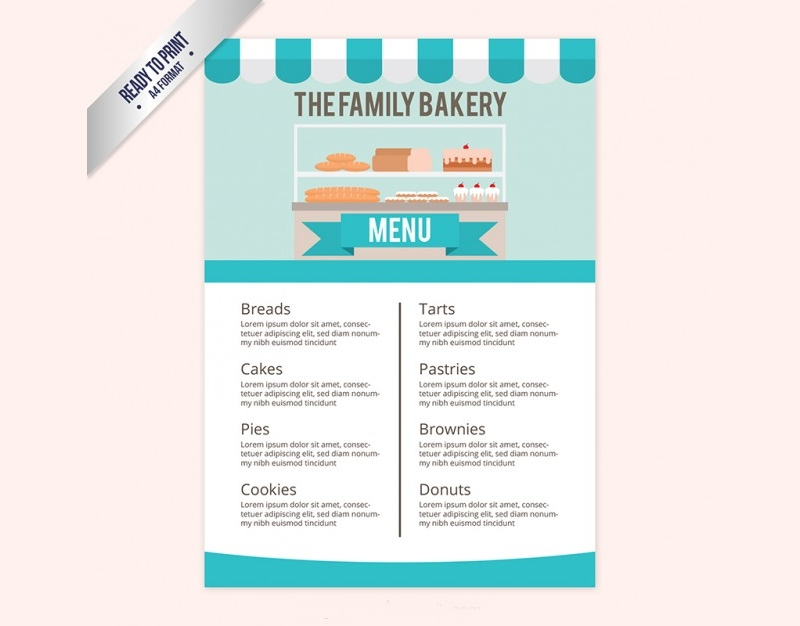 family bakery menu