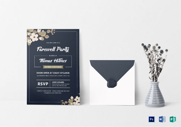 Free 24 Farewell Party Invitation Designs Examples In Psd
