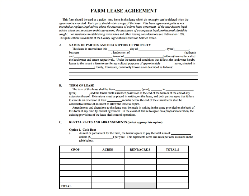 17 Lease Agreement Examples Pdf Doc