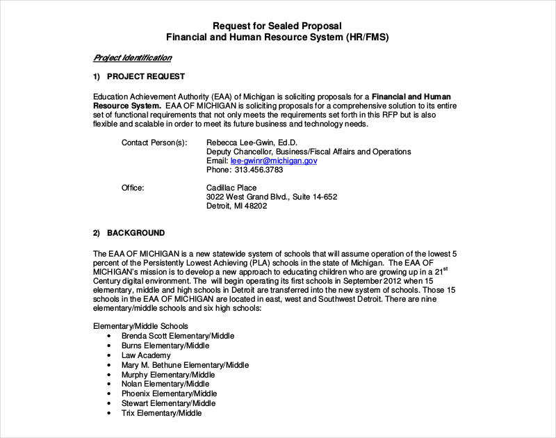 financial and human resource proposal template