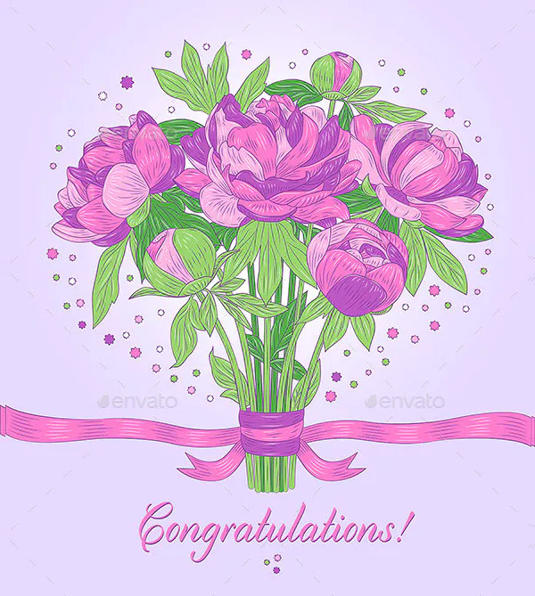 floral congratulations card