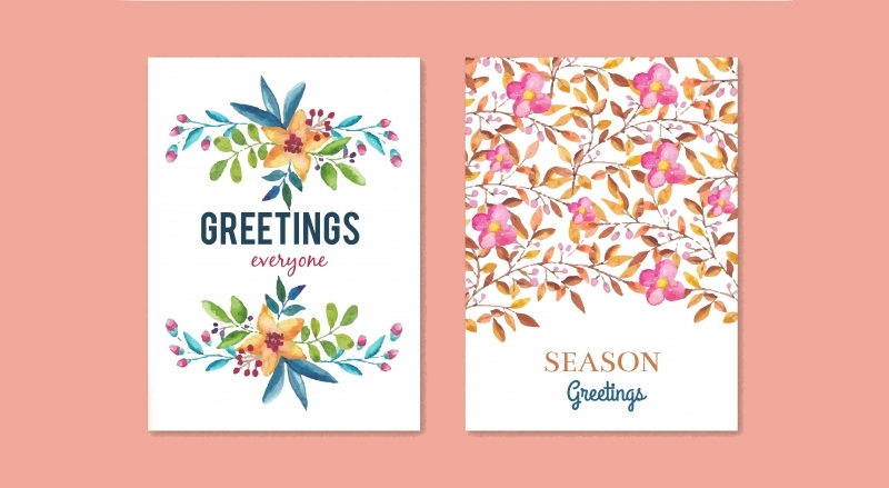 floral festive greeting card
