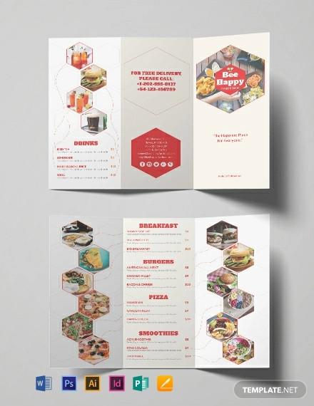 free fast food brochure template