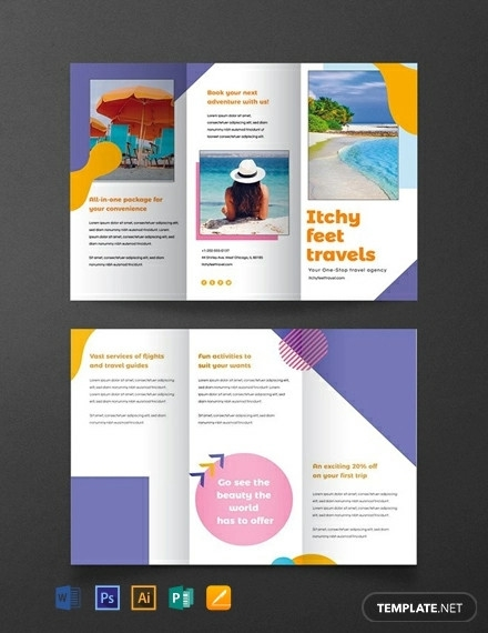 free holiday travel brochure template