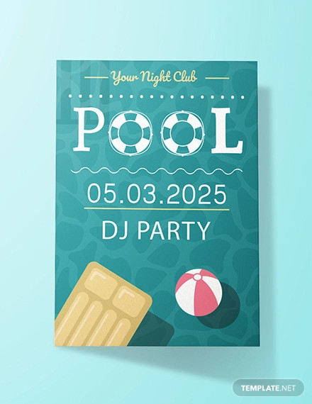 free printable pool party invitation template1