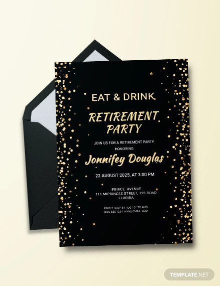 free surprise retirement party invitation template