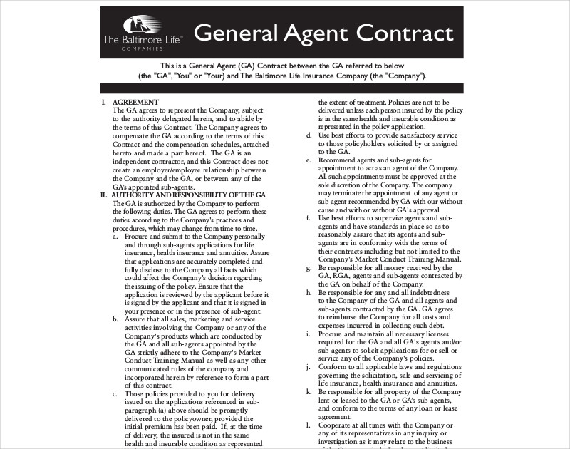 general agent agreement2
