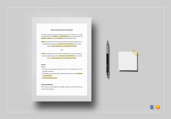general conveyance agreement wind up template