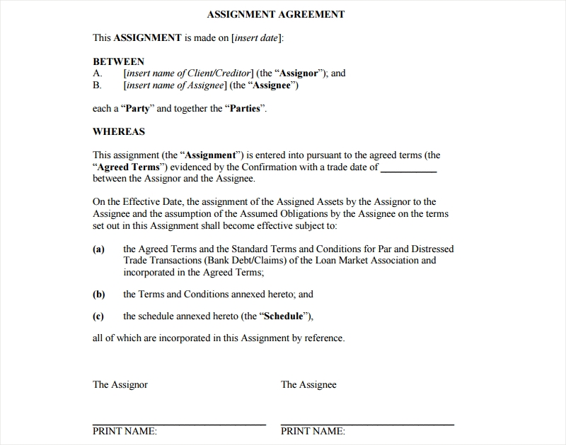 global assignment agreement