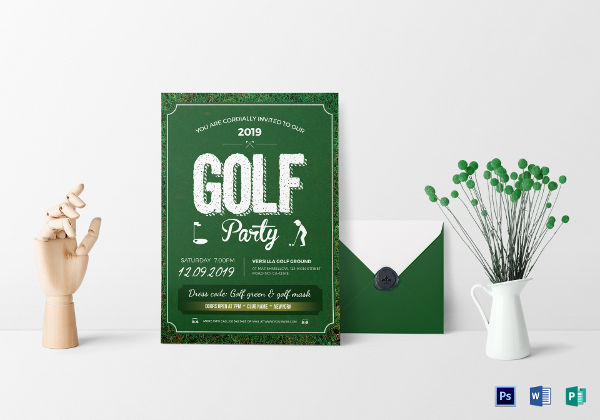 13 golf party invitation designs and examples psd ai