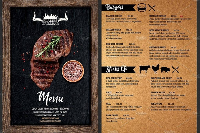 13 Barbecue Menu Designs Amp Examples Psd Ai Vector Eps