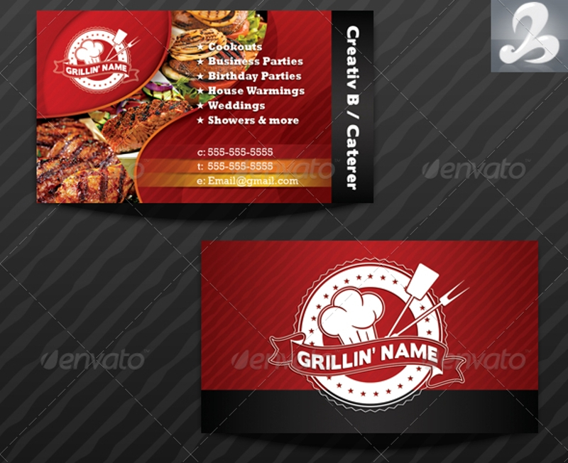 19  catering business card templates