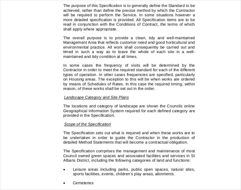 ground maintenance contract