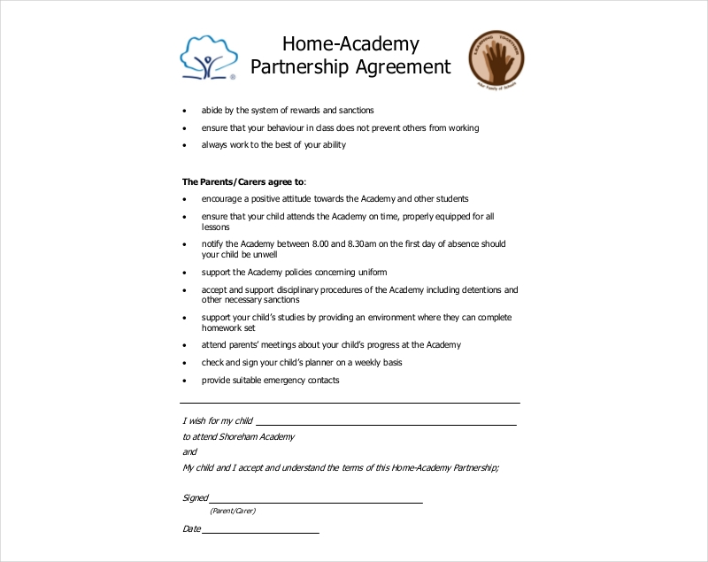 home partnership agreement
